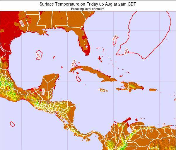 Cayman Islands Surface Temperature on Tuesday 01 Dec at 1am CST