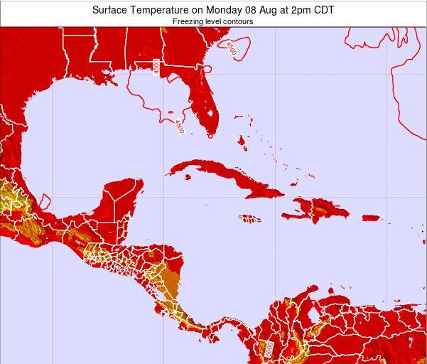 Cayman Islands Surface Temperature on Wednesday 27 Jul at 2pm CDT