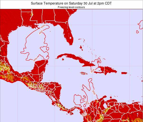 Cayman Islands Surface Temperature on Thursday 26 Nov at 7am CST