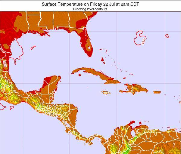 Cayman Islands Surface Temperature on Sunday 26 May at 8am CDT