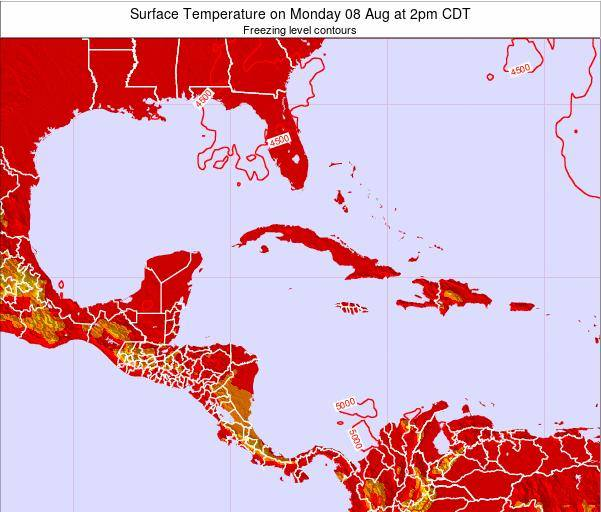 Cayman Islands Surface Temperature on Thursday 31 Jul at 8pm CDT