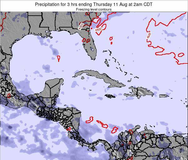 Cayman Islands Precipitation for 3 hrs ending Tuesday 28 May at 2am CDT