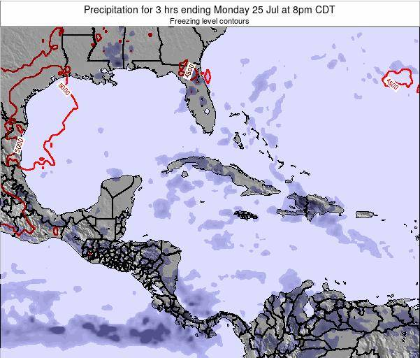 The Bahamas Precipitation for 3 hrs ending Monday 16 Dec at 1pm CST