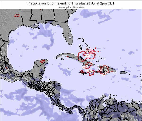 The Bahamas Precipitation for 3 hrs ending Sunday 24 Aug at 8am CDT