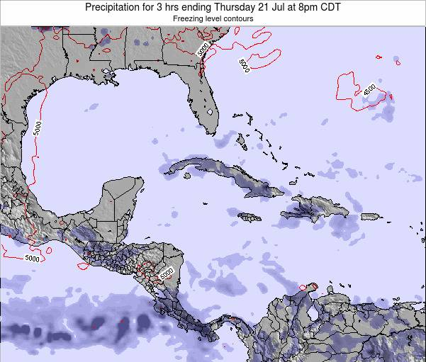 The Bahamas Precipitation for 3 hrs ending Sunday 27 Apr at 2pm CDT