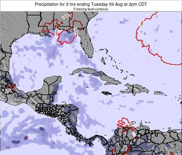 The Bahamas Precipitation for 3 hrs ending Saturday 25 Nov at 7am CST map