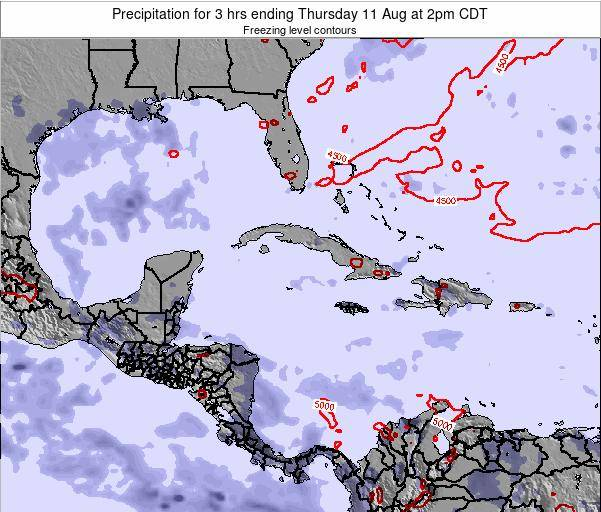 The Bahamas Precipitation for 3 hrs ending Wednesday 10 Feb at 1pm CST