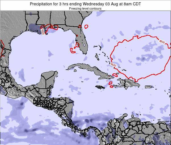 The Bahamas Precipitation for 3 hrs ending Friday 13 Dec at 7pm CST