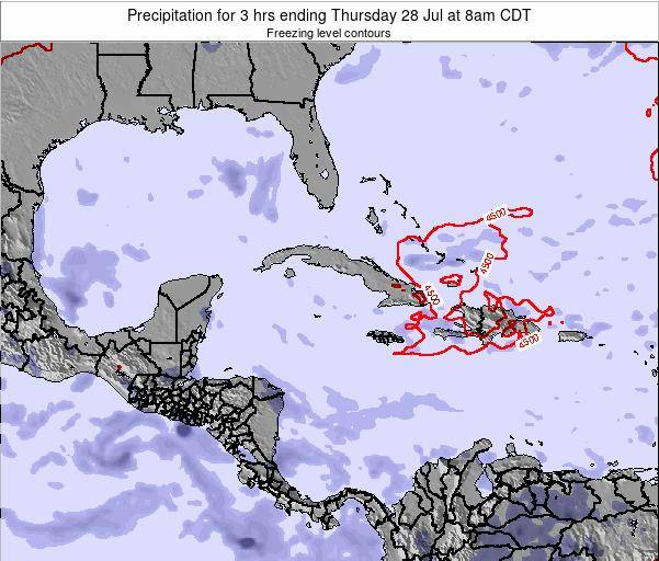 The Bahamas Precipitation for 3 hrs ending Friday 01 Aug at 8pm CDT