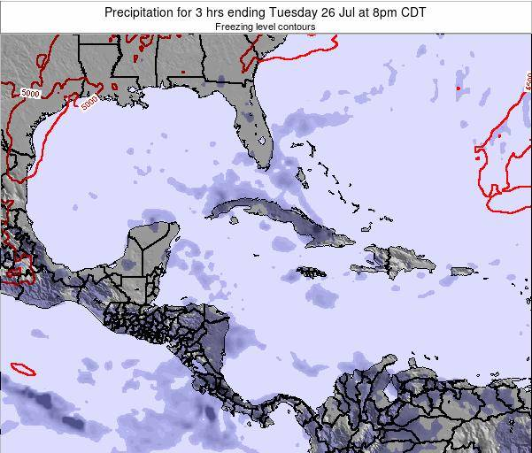 The Bahamas Precipitation for 3 hrs ending Friday 25 Apr at 8pm CDT