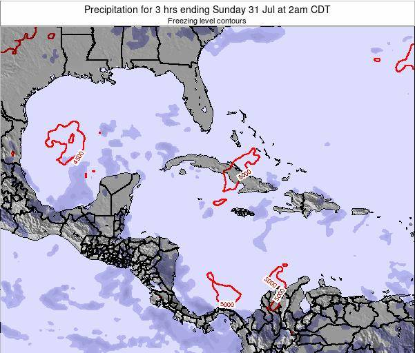 The Bahamas Precipitation for 3 hrs ending Tuesday 21 May at 8pm CDT map