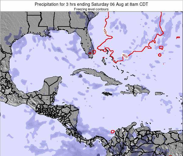 The Bahamas Precipitation for 3 hrs ending Tuesday 21 May at 2pm CDT