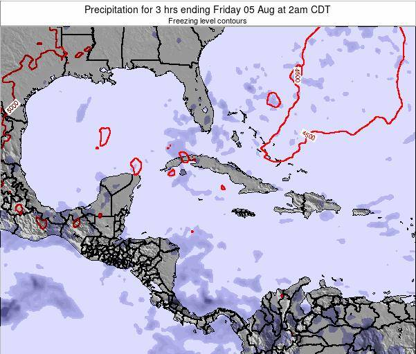 Cuba Precipitation for 3 hrs ending Friday 07 Mar at 7am CST map