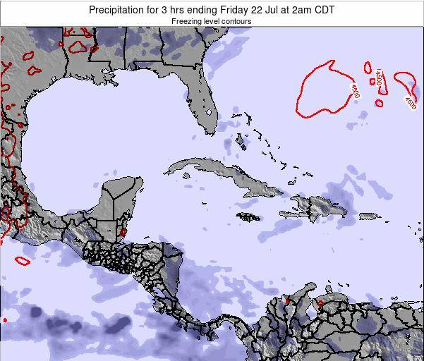 Cuba Precipitation for 3 hrs ending Thursday 31 Jul at 2pm CDT map