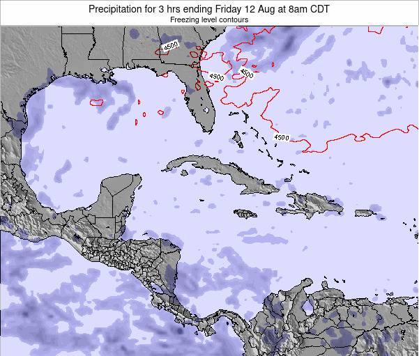 The Bahamas Precipitation for 3 hrs ending Friday 24 May at 2am CDT map