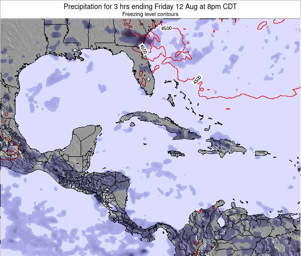 The Bahamas Precipitation for 3 hrs ending Monday 21 Apr at 8am CDT