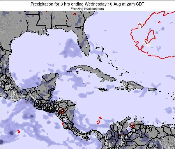 The Bahamas Precipitation for 3 hrs ending Thursday 13 Mar at 7am CST
