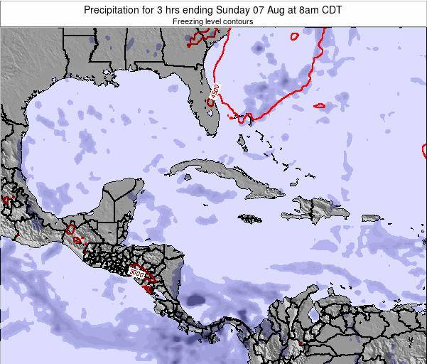 Cayman Islands Precipitation for 3 hrs ending Wednesday 29 May at 2pm CDT