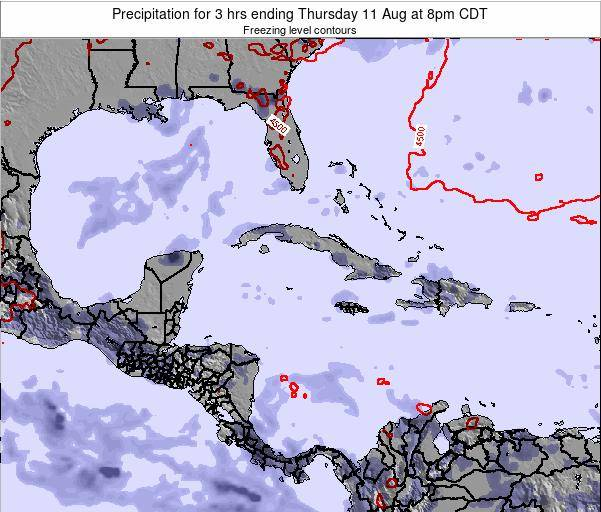The Bahamas Precipitation for 3 hrs ending Monday 28 Apr at 2pm CDT