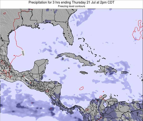 The Bahamas Precipitation for 3 hrs ending Monday 27 May at 2pm CDT