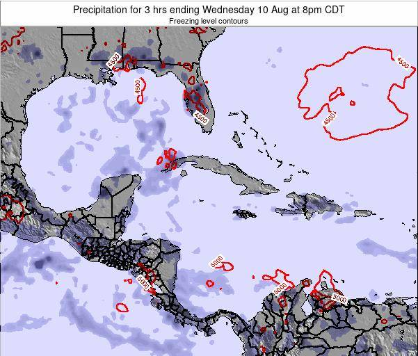 The Bahamas Precipitation for 3 hrs ending Tuesday 10 Dec at 1am CST