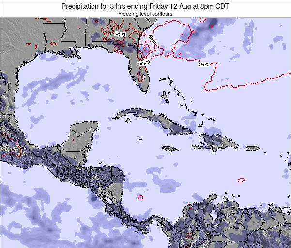 The Bahamas Precipitation for 3 hrs ending Saturday 06 Sep at 8pm CDT