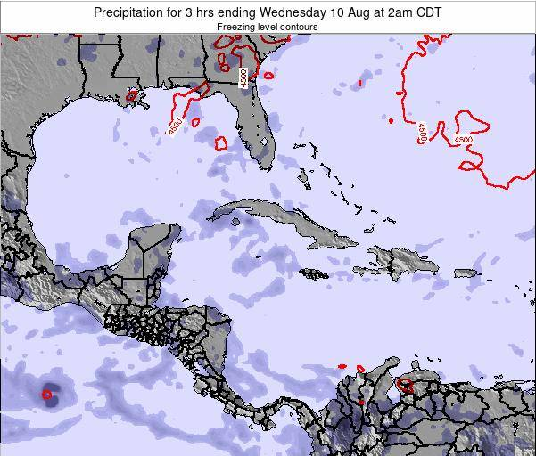 The Bahamas Precipitation for 3 hrs ending Wednesday 29 May at 2pm CDT map