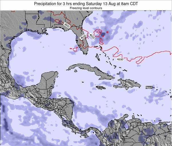 The Bahamas Precipitation for 3 hrs ending Monday 04 Aug at 2pm CDT