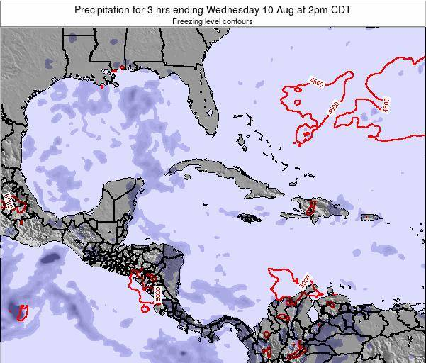 Cayman Islands Precipitation for 3 hrs ending Wednesday 29 May at 8am CDT