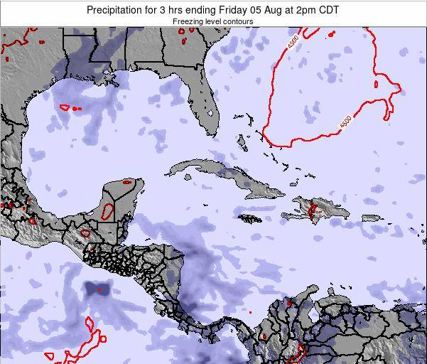 The Bahamas Precipitation for 3 hrs ending Sunday 23 Jun at 2am CDT