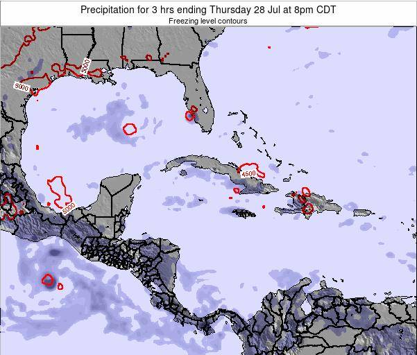 The Bahamas Precipitation for 3 hrs ending Tuesday 29 Apr at 2pm CDT