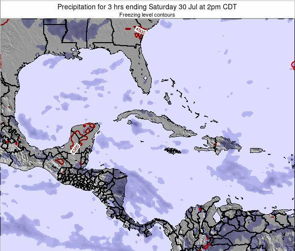 The Bahamas Precipitation for 3 hrs ending Tuesday 25 Jun at 2pm CDT