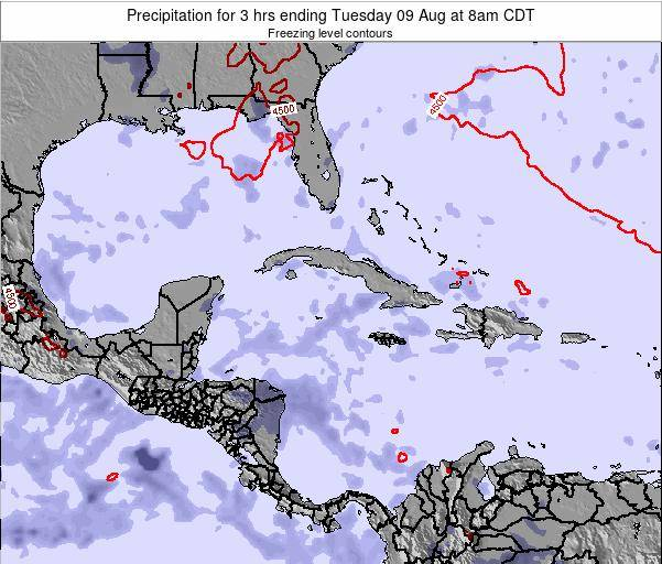 The Bahamas Precipitation for 3 hrs ending Friday 14 Mar at 1am CST