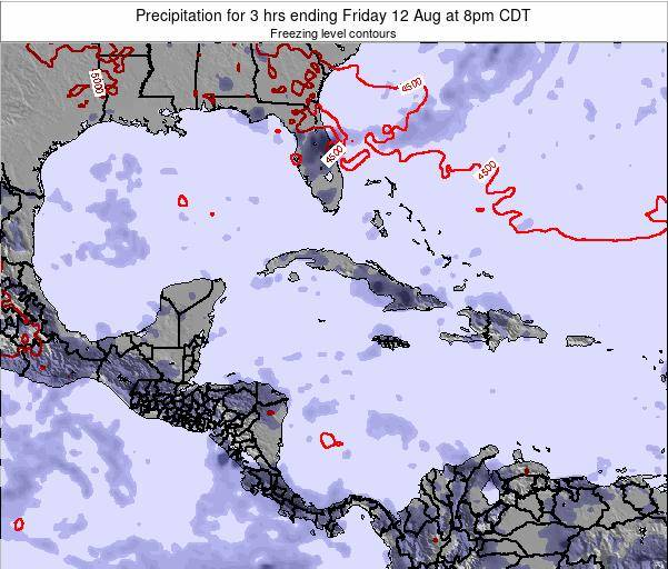The Bahamas Precipitation for 3 hrs ending Wednesday 05 Nov at 2pm CDT