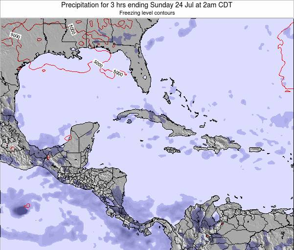 Cayman Islands Precipitation for 3 hrs ending Wednesday 29 May at 8pm CDT