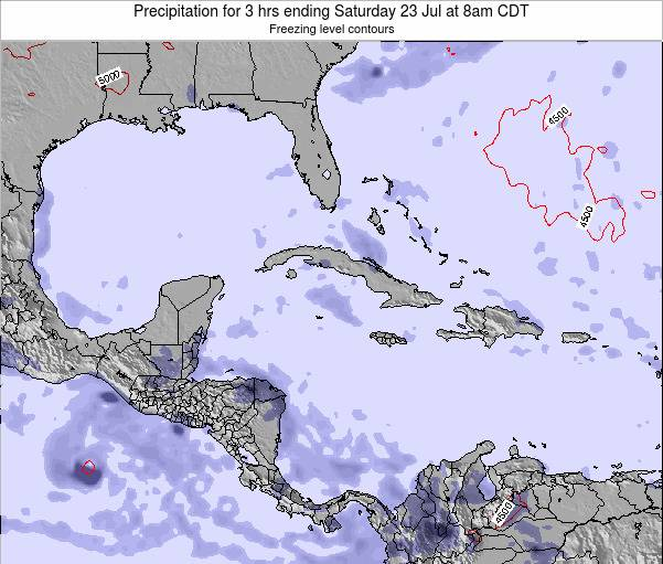 The Bahamas Precipitation for 3 hrs ending Thursday 30 Apr at 8am CDT