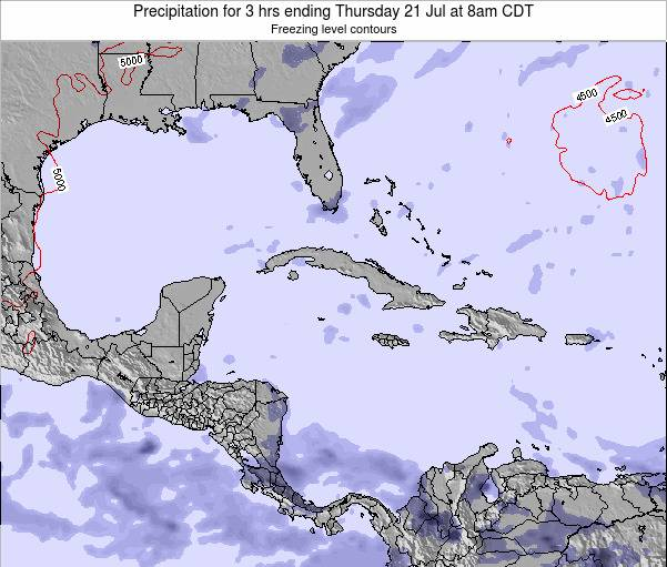The Bahamas Precipitation for 3 hrs ending Saturday 15 Mar at 2pm CDT