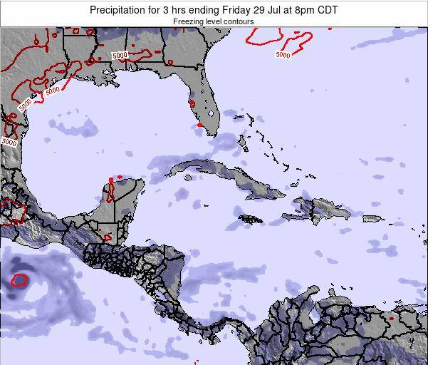 The Bahamas Precipitation for 3 hrs ending Thursday 12 Dec at 1am CST