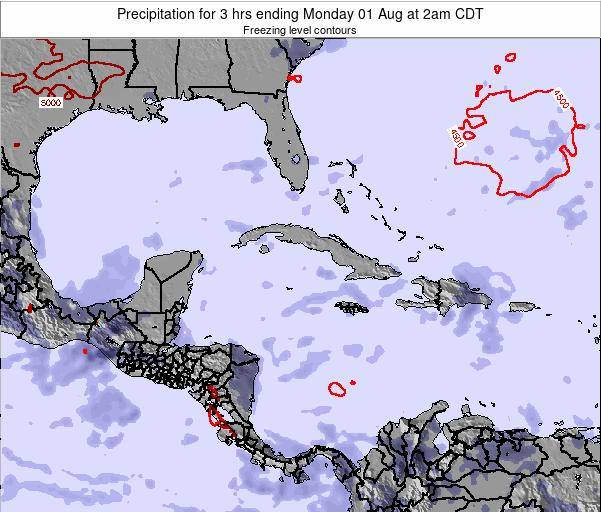 The Bahamas Precipitation for 3 hrs ending Friday 27 Jan at 7am CST