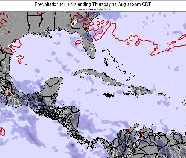 Cayman Islands Precipitation for 3 hrs ending Saturday 01 Jun at 2am CDT