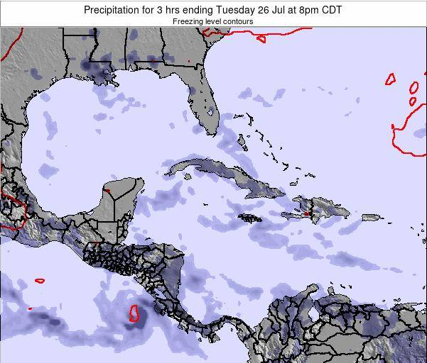 The Bahamas Precipitation for 3 hrs ending Friday 31 May at 2am CDT map