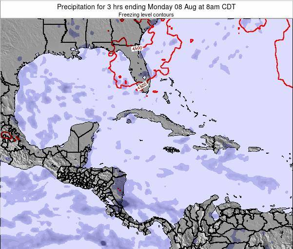 The Bahamas Precipitation for 3 hrs ending Friday 24 May at 2pm CDT