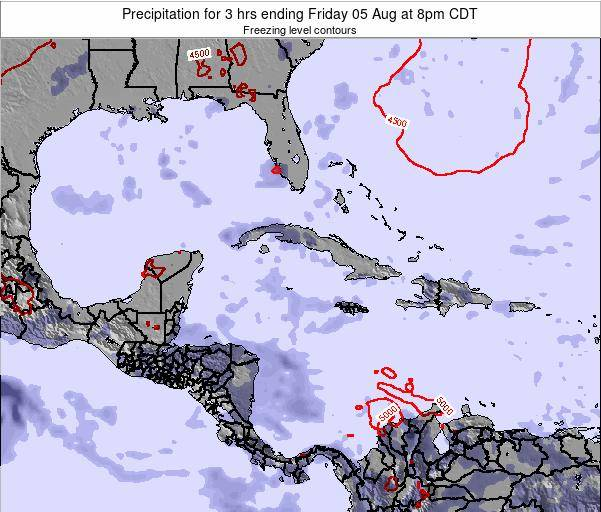 The Bahamas Precipitation for 3 hrs ending Tuesday 21 Nov at 1pm CST map