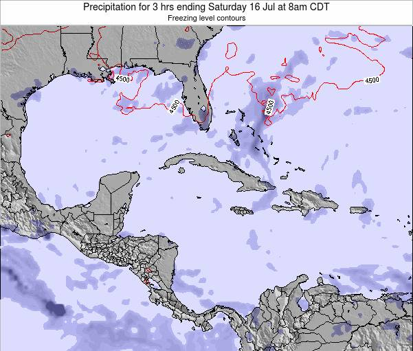 The Bahamas Precipitation for 3 hrs ending Monday 26 Sep at 8pm CDT