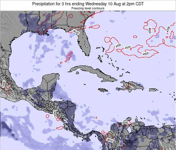 The Bahamas Precipitation for 3 hrs ending Friday 06 Dec at 7am CST