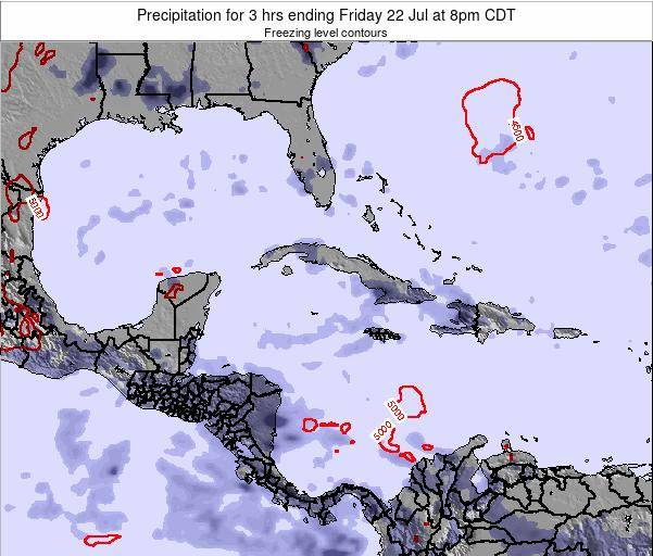 The Bahamas Precipitation for 3 hrs ending Friday 03 Oct at 2pm CDT