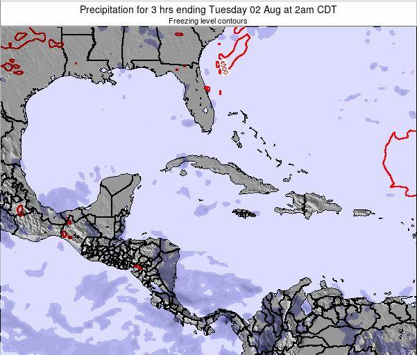 The Bahamas Precipitation for 3 hrs ending Tuesday 21 May at 8am CDT