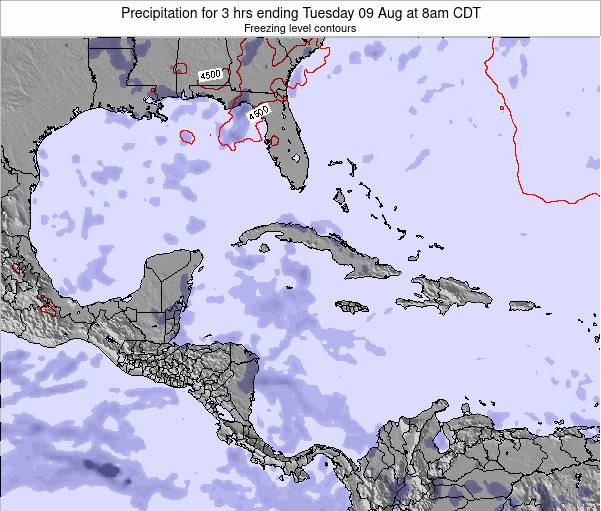 The Bahamas Precipitation for 3 hrs ending Thursday 26 Nov at 7am CST