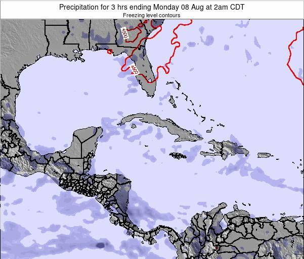 The Bahamas Precipitation for 3 hrs ending Tuesday 11 Mar at 2am CDT