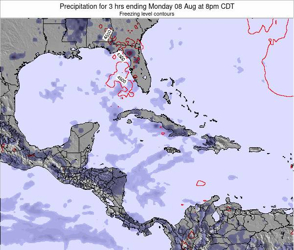 The Bahamas Precipitation for 3 hrs ending Sunday 26 May at 8am CDT map